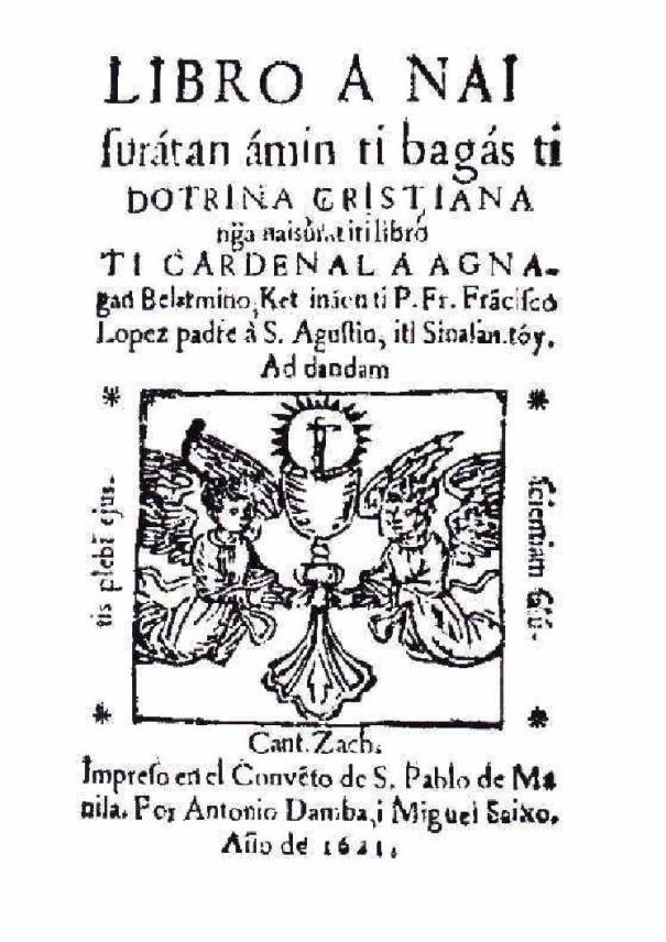 Front page, López' Doctrina Christiana