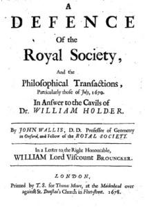 Wallis Pamphlet