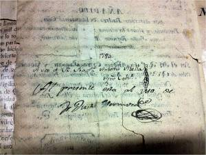 Abella and Hermosa's signatures