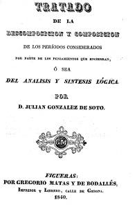 González de Soto 1840b: Portada