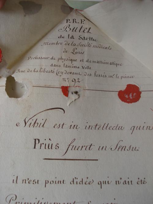 Archivalischer Fundus, Manuskript B2-5 (1799), Deckblatt