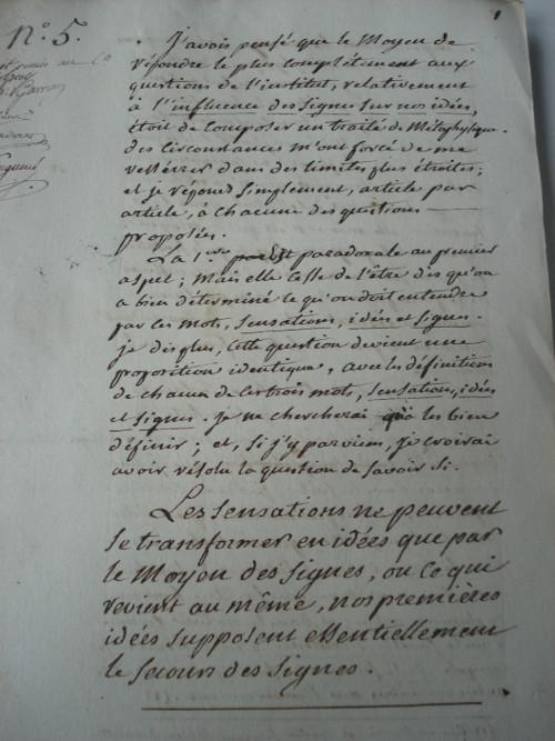 Archivalischer Fundus, Manuskript B2-5 (1799), Seite 1