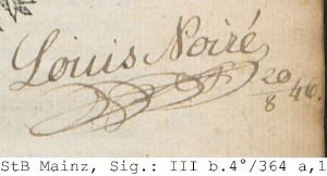 Signature of Ludwig Noiré. Source