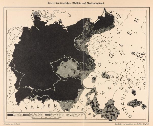 Karte des deutschen Reiches