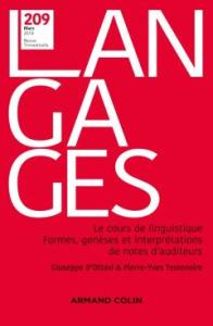 Book cover: Langages