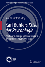 Book cover: Karl Bühlers Krise der Psychologie