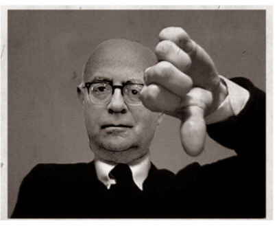 Adorno thumbs down